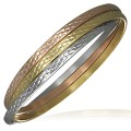 Rannerengas - 3-tone Grid Triple Interlocking Bangle