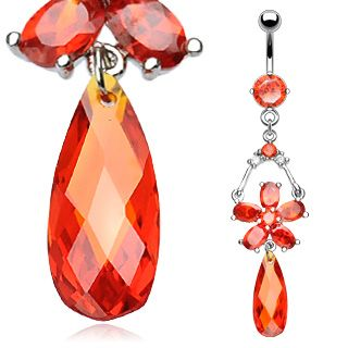 Napakoru - Ruby Red Teardrop Dangle